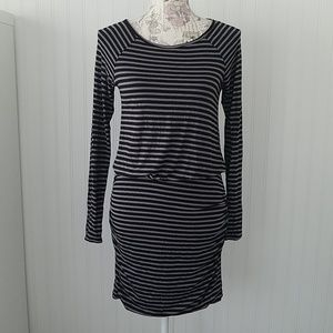 Banana Republic stretch striped dress small EUC